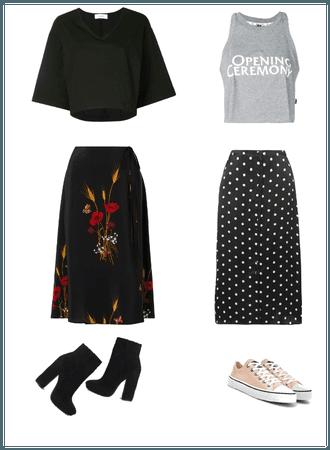 Midi skirt 2 ways
