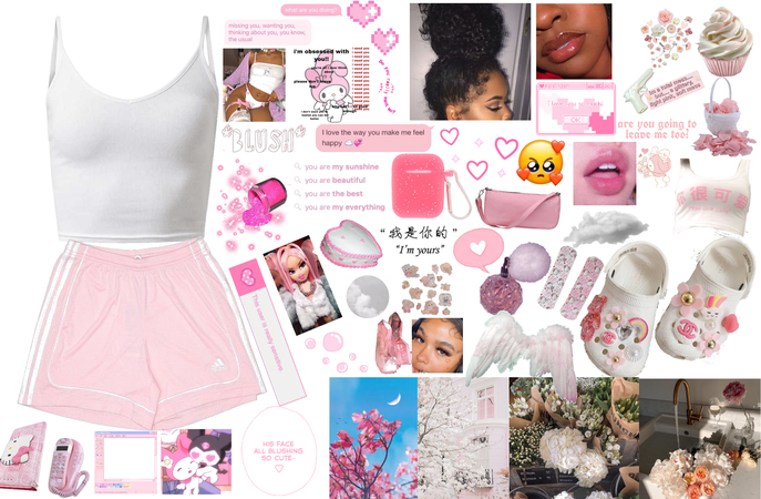 white and pink softie aesthetic 💗🤍