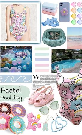 Pastel pool day