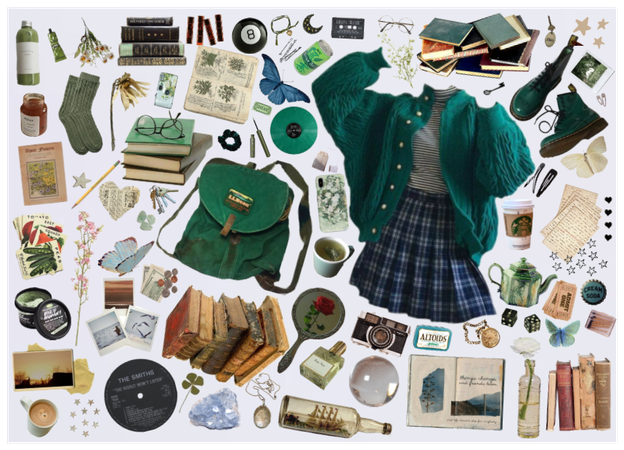 green pleat
