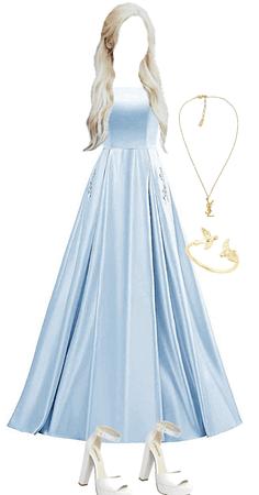 blue poofy prom dress