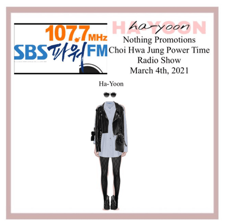 /HA-YOON/ Choi Hwa Jung Radio Show