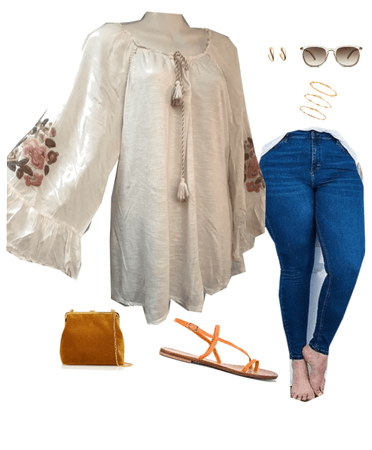 BLOUSE AND JEANS
