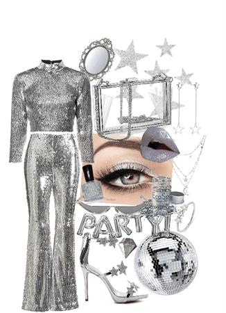 silver monochromatic