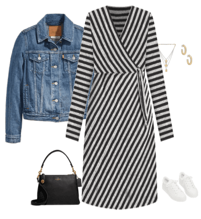 Striped Dress Dressed Down