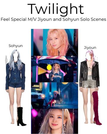 Feel Special M/V jiyoun an sohyun Solo scenes