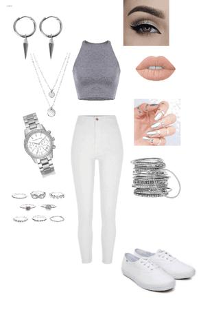 Silvery White