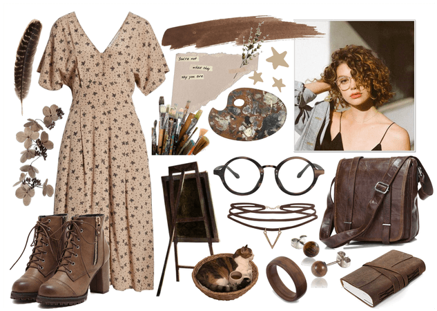 Artist's Brown Outfit