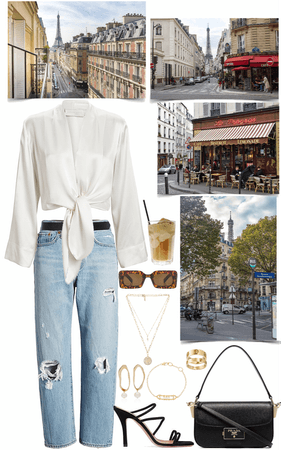 simple outfit for a normal day in Paris streets