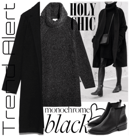 #Black monochrome fall trend - so chic & cozy!