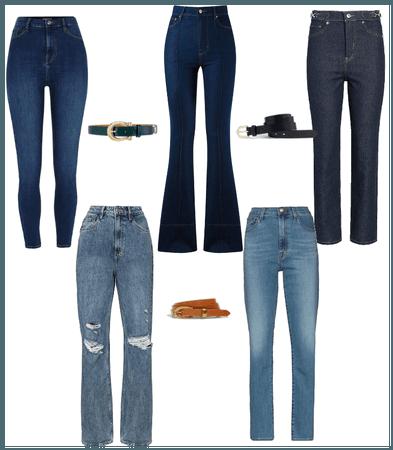 jeans reloj de arena tendencia a triangulo