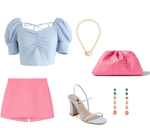 summer pink & blue