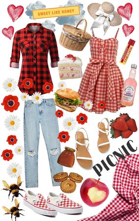 girlfriends' picnic date