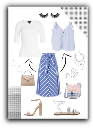 skirt button-front