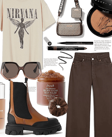 brown street style