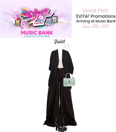 VioletPark_ 'EVITA!' Arriving at Music Bank
