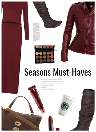Seasons Must haves: Leather jacket,boots