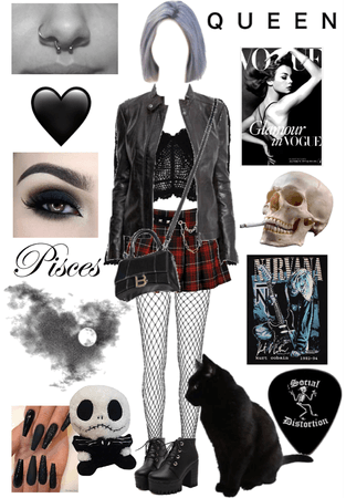 emo/goth outfit🖤🖤
