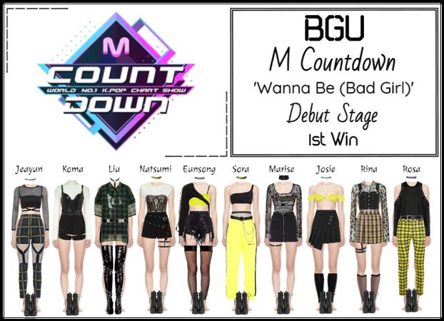 BGU M Countdown 'Wanna Be (Bad Girl)' Debut Stage