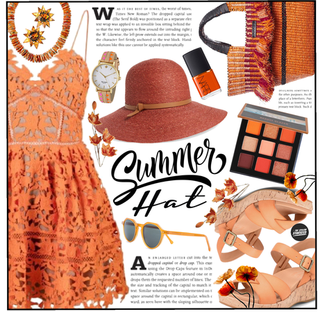 Wide Brim Hat: Orange Crush (6.16.2021)