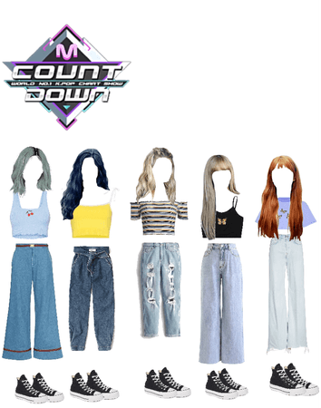 T-shirts style / girls group