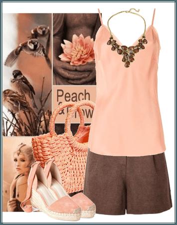 peach and brown summer