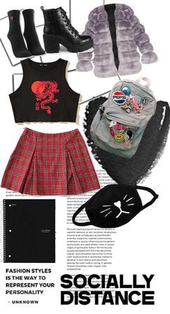 emo schoolgirl