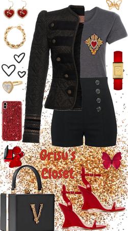 85 Corazón sagrado bordado en lentejuela, canutillo  y chaquira, diseño exclusivo Grisu's Closet