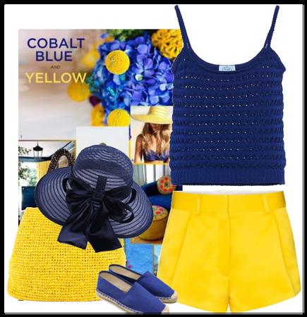 cobalt and yellow summer