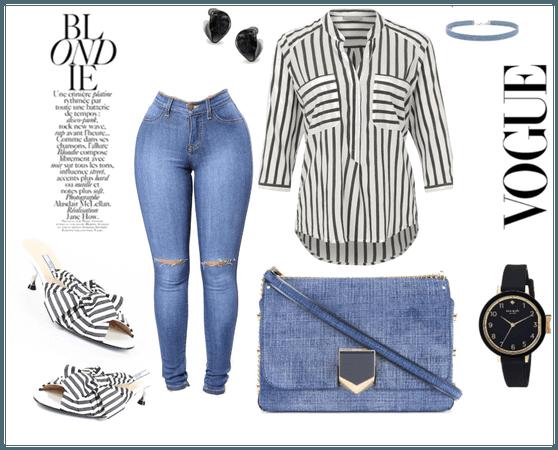 stripe and denim
