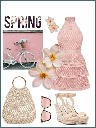 Powder pink spring
