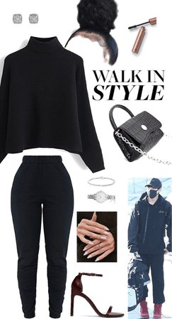 BTS airport inspired everyday comfort outfit