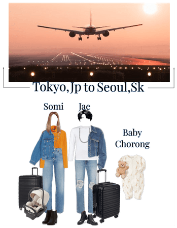 Somi&Jae And Baby Chorong Airport Outfit