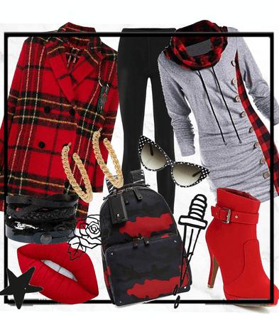 Rock 'n' roll hoodie dress
