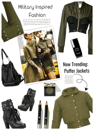 Military Inspired/puffer jackets trending