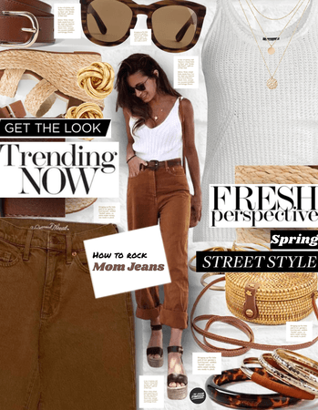 Spring Street Style: Mom/Girlfriend Jeans