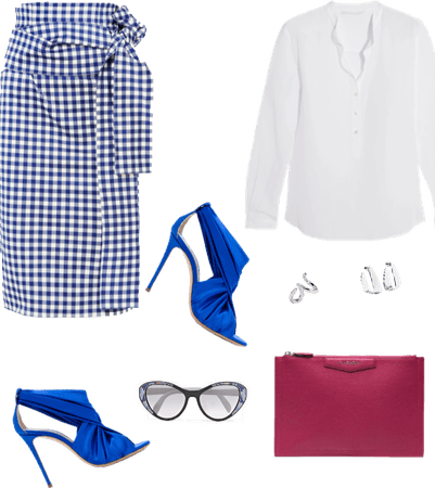 How to wear a gingham skirt