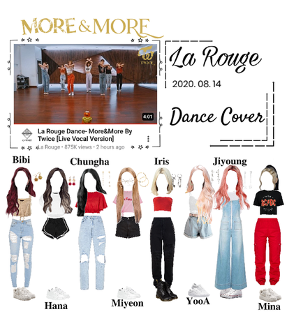 La Rouge Dance- More&More by Twice (Live vocal dance version)