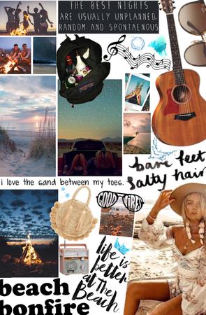 summer beach bonfire 🔥