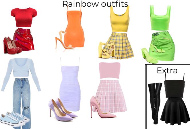 rainbow outfits 🌈 thank u to @kalaaaalalove43
