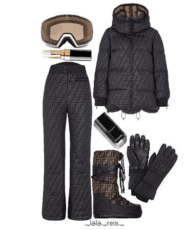 Fendi Ski Outfit