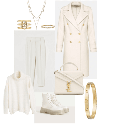 Elegance in cream white
