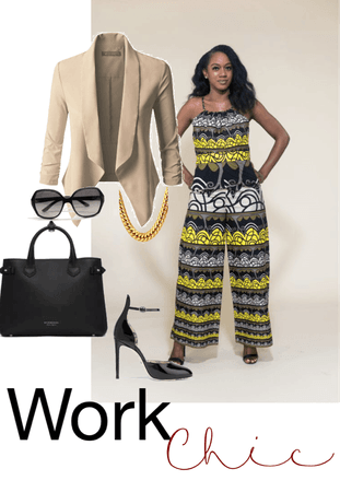 African print jumpsuit for work