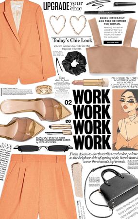 summer work style. 🧡