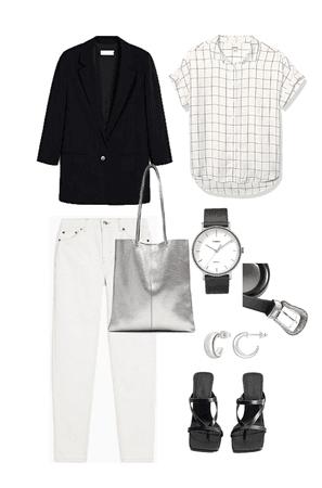 Jeans Blancos, semiformal