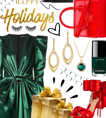 WINTER 2020: Green + Red Holiday Party Style