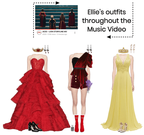 [ELLIE] OUTFITS THROUGHOUT THE MV