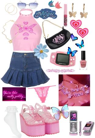 Pink Butterfly Y2K