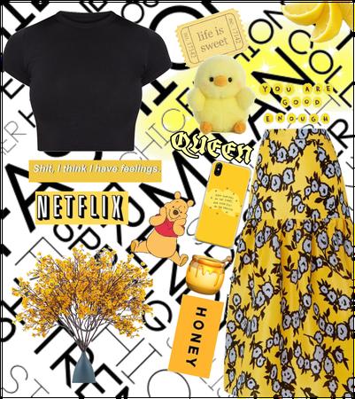 Random black and yellow #ootd | i tried