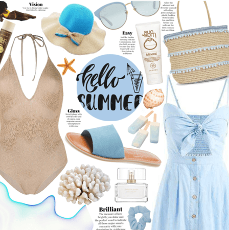 Hello Summer In Blue And Beige